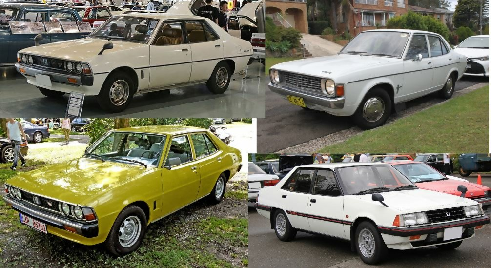 Mitsubishi Galant 1969-1987, Generations from 1 to 4